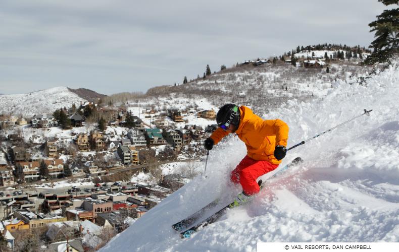 Skier at Park City Ski Resort, Utah