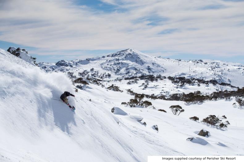 Skier at Perisher Ski Resort