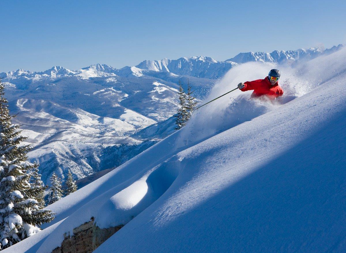 Going off piste at Beaver Creek Ski Resort, CO