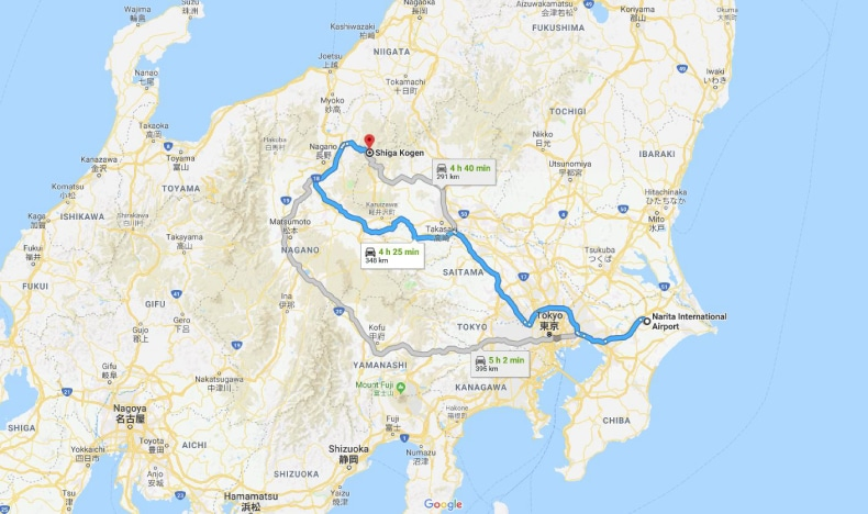 Narita Airport To Shiga Kogen Ski Resort SkiBookings.com