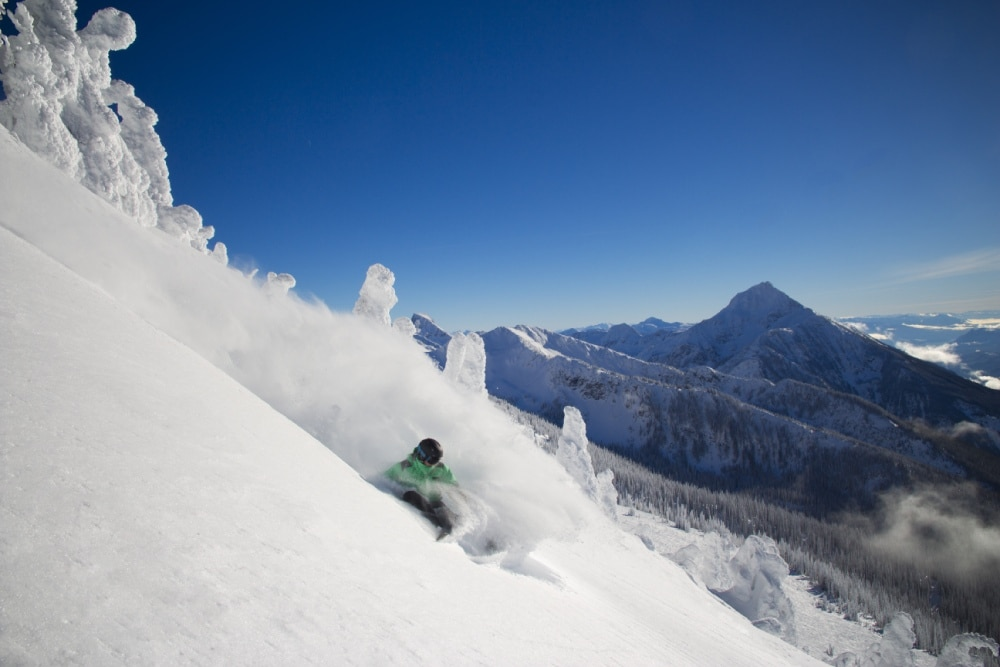 Photo of powder skier at Revelstoke