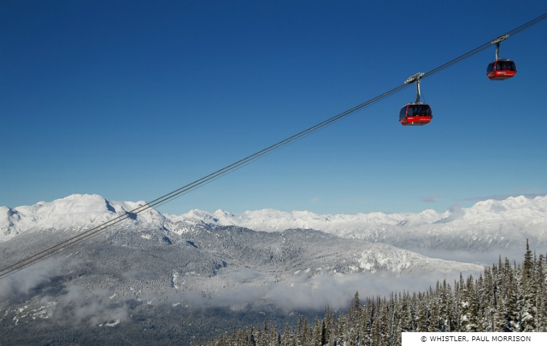 The Peak To Peak Gondola at Whistler Blackomb