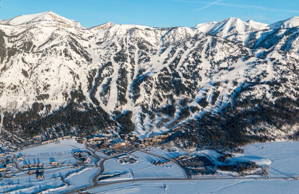 Teton Village With The Ski Area Behind SkiBookings