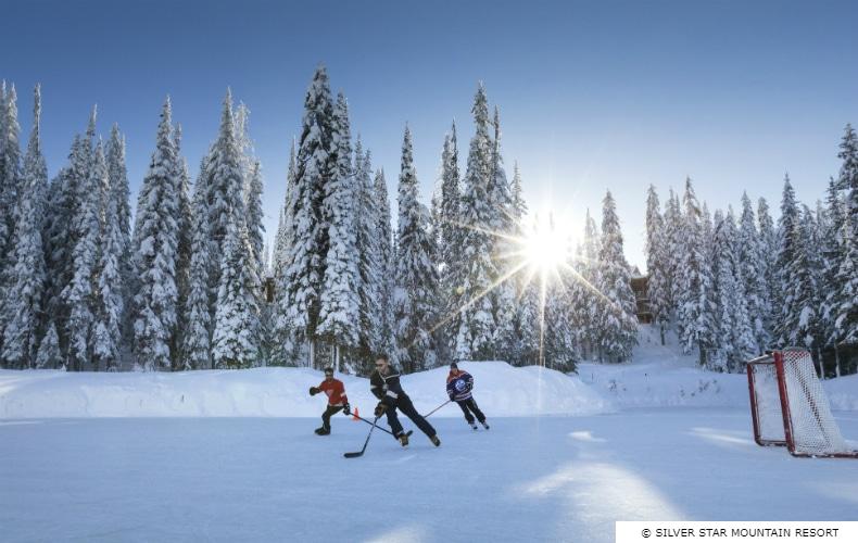 True Canadian Pond Hockey SilverStar SkiBookings.com